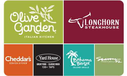 Darden Restaurants eGift Card - $15