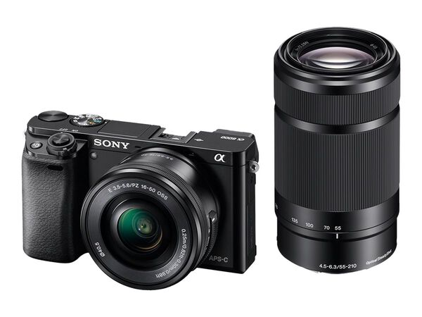 Sony α6000 ILCE-6000Y - digital camera 16-50mm and 55-210mm lensesSony α6000 ILCE-6000Y - digital camera 16-50mm and 55-210mm lenses, , hi-res