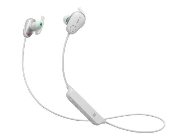 Sony WI-SP600N - earphones with micSony WI-SP600N - earphones with mic, White, hi-res