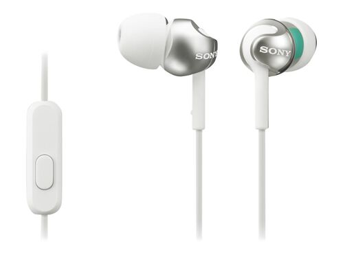 Sony MDR-EX110AP/B - earphones with mic, White, hi-res