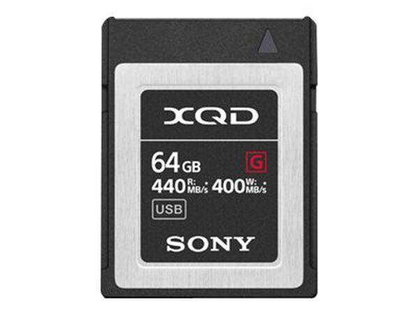 Sony G-Series QDG64F - flash memory card - 64 GB - XQDSony G-Series QDG64F - flash memory card - 64 GB - XQD, , hi-res