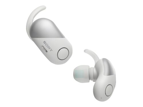 Sony WF-SP700N - earphones with mic, White, hi-res