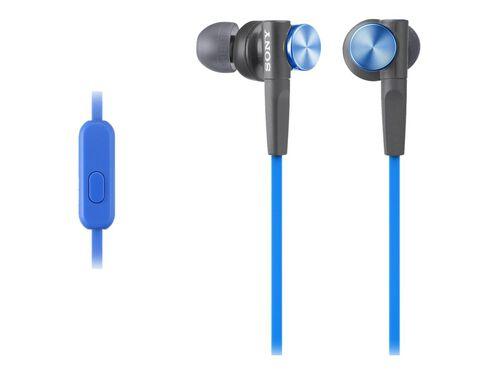 Sony MDR-XB50AP - earphones with mic, Blue, hi-res