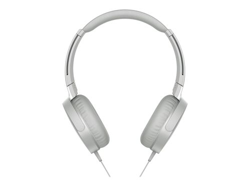 Sony MDR-XB550AP - headphones with mic, White, hi-res