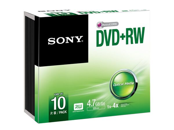 Sony 10DPW47SS - DVD+RW x 10 - 4.7 GB - storage mediaSony 10DPW47SS - DVD+RW x 10 - 4.7 GB - storage media, , hi-res