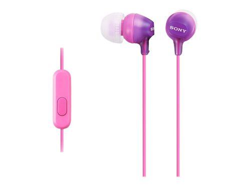 Sony MDR-EX15AP/B - earphones with mic, Violet, hi-res