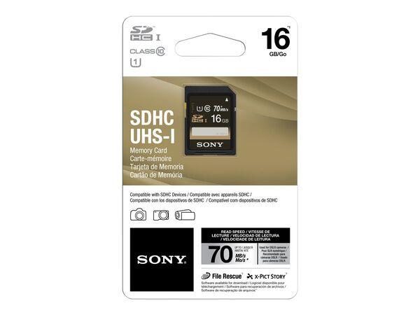 Sony SF16UY2/TQ - flash memory card - 16 GB - SDHC UHS-ISony SF16UY2/TQ - flash memory card - 16 GB - SDHC UHS-I, , hi-res
