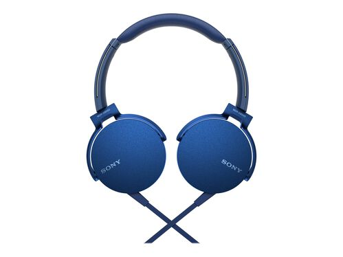 Sony MDR-XB550AP - headphones with mic, Blue, hi-res