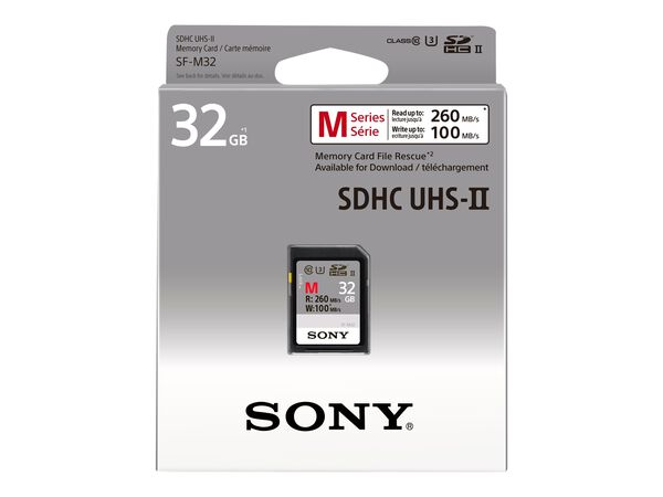 Sony SF-M Series SF-M32 - flash memory card - 32 GB - SDHC UHS-IISony SF-M Series SF-M32 - flash memory card - 32 GB - SDHC UHS-II, , hi-res