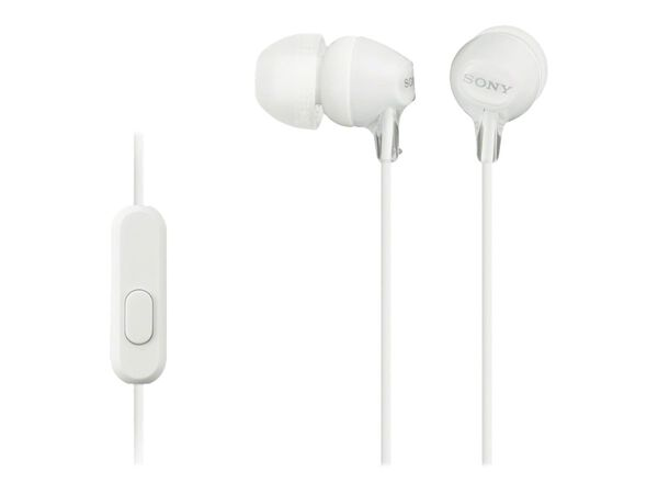 Sony MDR-EX15AP/B - earphones with micSony MDR-EX15AP/B - earphones with mic, White, hi-res