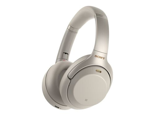 Sony WH-1000XM3 - headphones with mic, Silver, hi-res