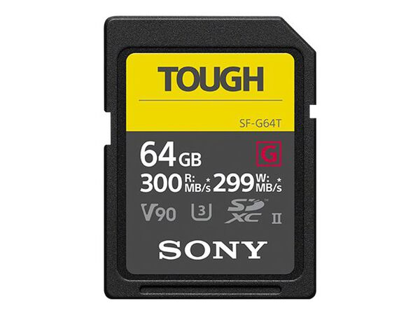 Sony SF-G series TOUGH SF-G64T - flash memory card - 64 GB - SDXC UHS-IISony SF-G series TOUGH SF-G64T - flash memory card - 64 GB - SDXC UHS-II, , hi-res