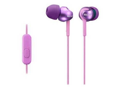 Sony MDR-EX110AP/B - earphones with mic, Violet, hi-res