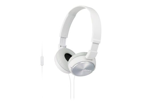 Sony MDR-ZX310AP - headphones with mic, White, hi-res