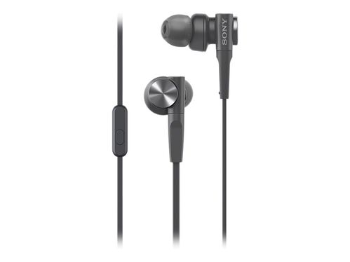 Sony MDR-XB55AP - earphones with mic, Black, hi-res