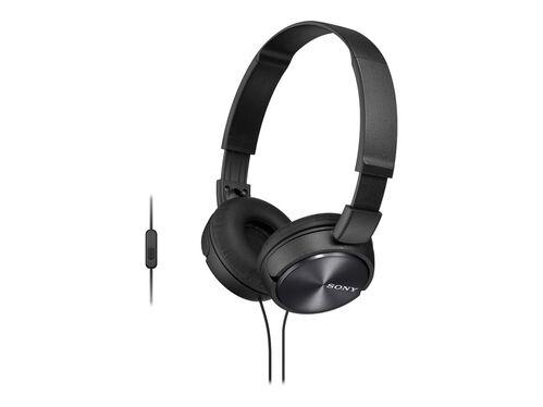 Sony MDR-ZX310AP - headphones with mic, Black, hi-res