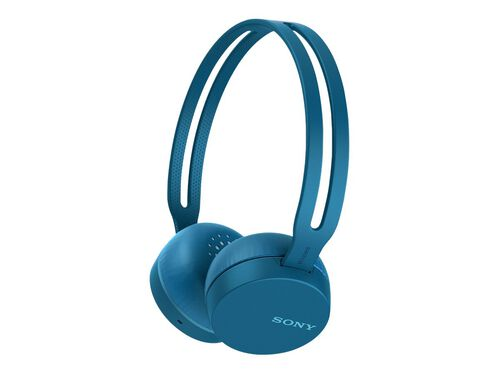 Sony WH-CH400 - headphones with mic, Blue, hi-res