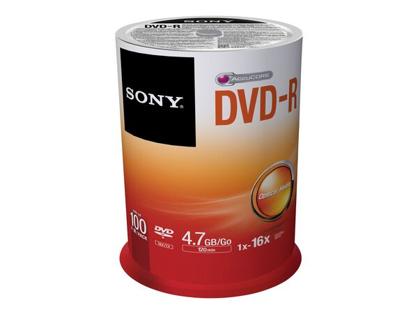 Sony DMR 47SP - DVD-R x 100 - 4.7 GB - storage mediaSony DMR 47SP - DVD-R x 100 - 4.7 GB - storage media, , hi-res