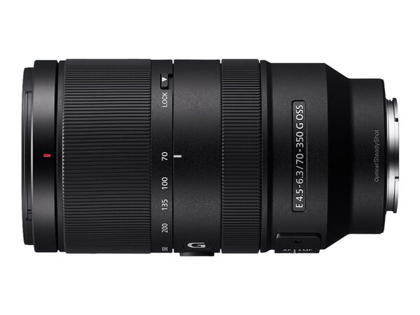 Sony SEL70350G - telephoto zoom lens - 70 mm - 350 mmSony SEL70350G - telephoto zoom lens - 70 mm - 350 mm, , hi-res