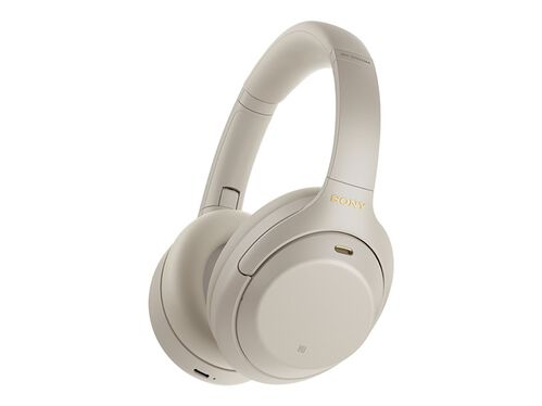 Sony WH-1000XM4 - headphones with mic, Silver, hi-res