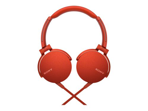 Sony MDR-XB550AP - headphones with mic, Red, hi-res