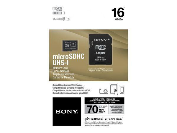 Sony SR16UY2A/TQ - flash memory card - 16 GB - microSDHC UHS-ISony SR16UY2A/TQ - flash memory card - 16 GB - microSDHC UHS-I, , hi-res