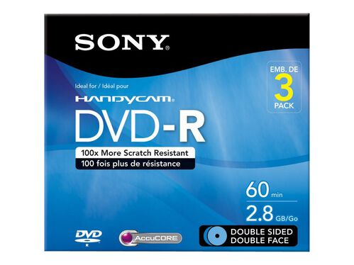 Sony 3DMR60DSR1HC - DVD-R (8cm) x 3 - 2.8 GB - storage media, , hi-res