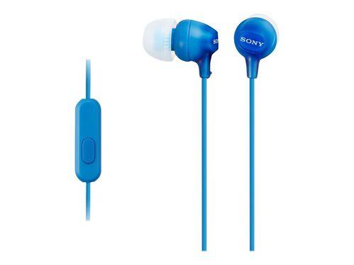 Sony MDR-EX15AP/B - earphones with mic, Blue, hi-res