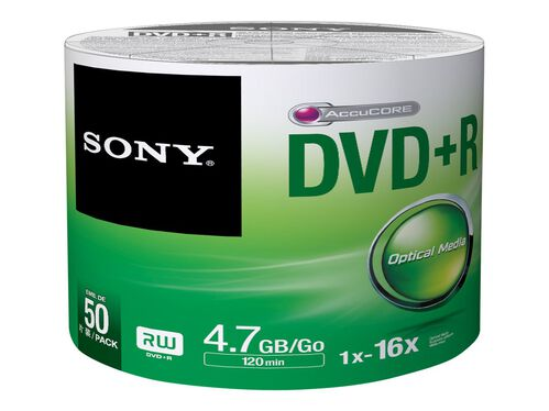 Sony 50DPR47SB - DVD-R x 50 - 4.7 GB - storage media, , hi-res