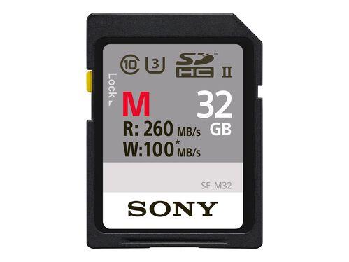 Sony SF-M Series SF-M32 - flash memory card - 32 GB - SDHC UHS-II, , hi-res