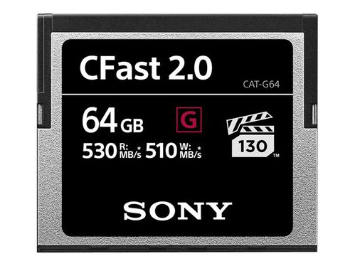 Sony G-Series CAT-G64 - flash memory card - 64 GB - CFast 2.0, , hi-res