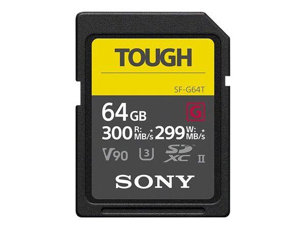 Sony SF-G series TOUGH SF-G64T - flash memory card - 64 GB - SDXC UHS-IISony SF-G series TOUGH SF-G64T - flash memory card - 64 GB - SDXC UHS-II, , hi-res