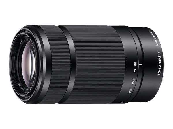 Sony SEL55210 - telephoto zoom lens - 55 mm - 210 mmSony SEL55210 - telephoto zoom lens - 55 mm - 210 mm, , hi-res