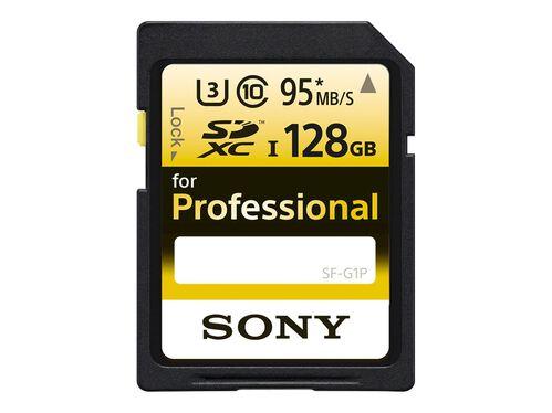 Sony SF-G1P - flash memory card - 128 GB - SDXC UHS-I, , hi-res