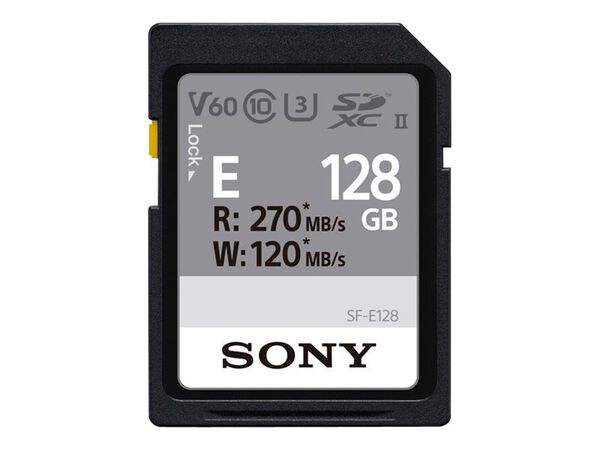 Sony SF-E Series SF-E128 - flash memory card - 128 GB - SDXC UHS-IISony SF-E Series SF-E128 - flash memory card - 128 GB - SDXC UHS-II, , hi-res