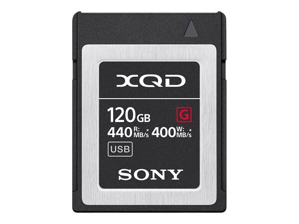 Sony G-Series QD-G120F - flash memory card - 120 GB - XQDSony G-Series QD-G120F - flash memory card - 120 GB - XQD, , hi-res