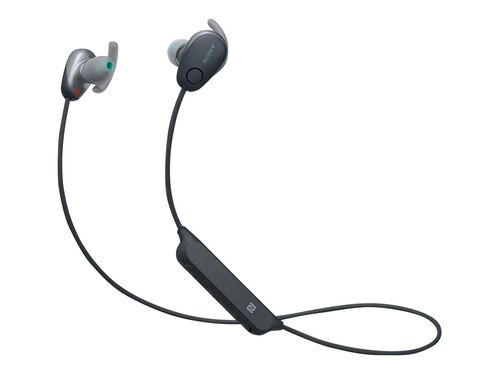 Sony WI-SP600N - earphones with mic, Black, hi-res