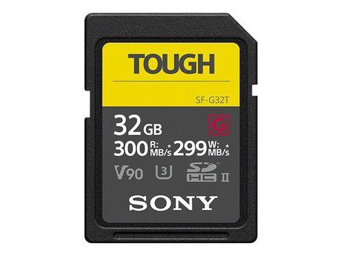 Sony SF-G series TOUGH SF-G32T - flash memory card - 32 GB - SDHC UHS-II, , hi-res