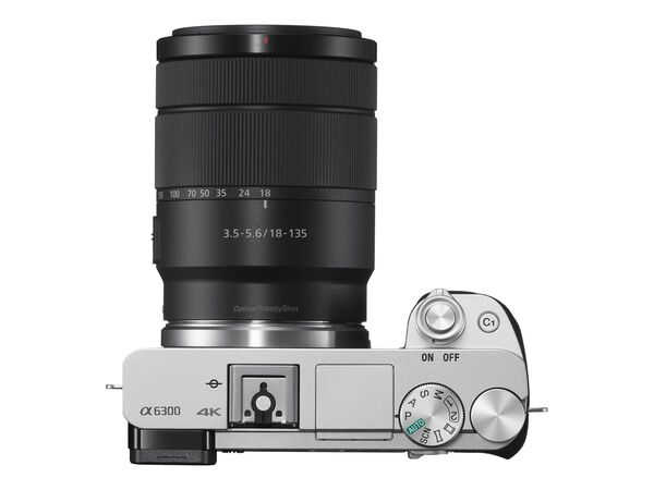 Sony α6300 ILCE-6300M - digital camera E 18-135mm OSS lensSony α6300 ILCE-6300M - digital camera E 18-135mm OSS lens, Silver, hi-res
