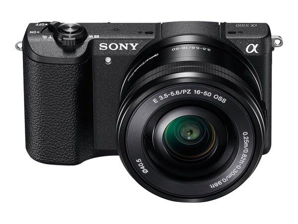 Sony α5100 ILCE-5100L - digital camera 16-50mm lensSony α5100 ILCE-5100L - digital camera 16-50mm lens, Black, hi-res