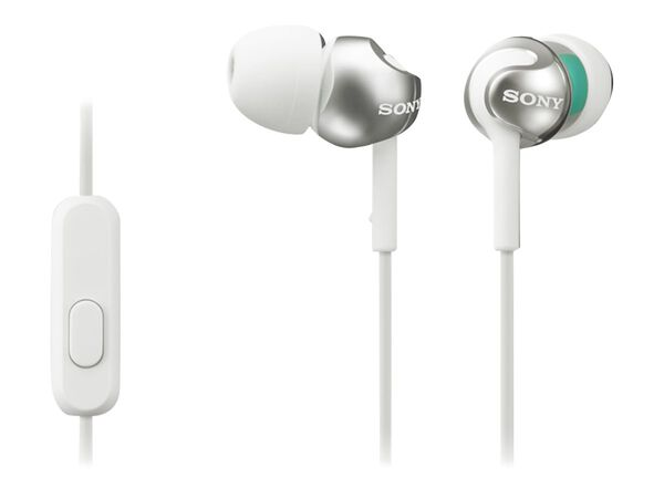 Sony MDR-EX110AP/B - earphones with micSony MDR-EX110AP/B - earphones with mic, White, hi-res