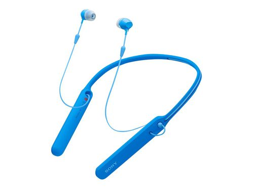 Sony WI-C400 - earphones with mic, Blue, hi-res