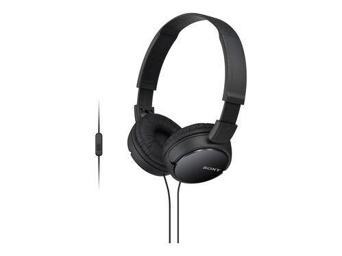 Sony MDR-ZX110AP - headphones with mic, Black, hi-res