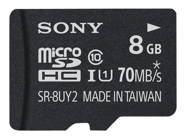 Sony SR-UY2A Series SR-8UY2A - flash memory card - 8 GB - microSDHC UHS-ISony SR-UY2A Series SR-8UY2A - flash memory card - 8 GB - microSDHC UHS-I, , hi-res