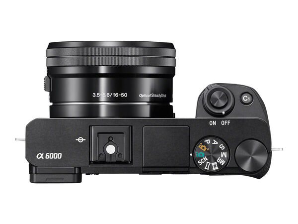 Sony α6000 ILCE-6000L - digital camera 16-50mm lensSony α6000 ILCE-6000L - digital camera 16-50mm lens, Black, hi-res