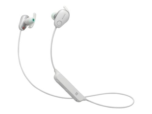 Sony WI-SP600N - earphones with mic, White, hi-res