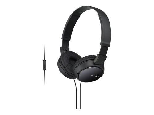 Sony MDR-ZX110AP - headphones with mic, Black, hi-res