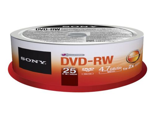 Sony 25DMW47SP - DVD-RW x 25 - 4.7 GB - storage media, , hi-res