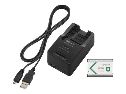 Sony ACC-TRBX - battery charger - + AC power adapter - with battery - Li-Ion, , hi-res