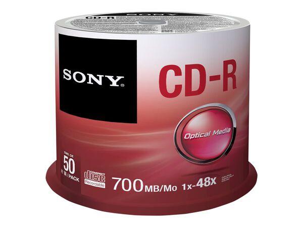 Sony CDQ-80SP - CD-R x 50 - 700 MB - storage mediaSony CDQ-80SP - CD-R x 50 - 700 MB - storage media, , hi-res